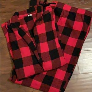 Buffalo plaid flannel Pajama Set size XL